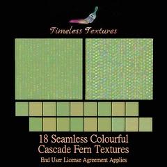 TT 18 Seamless Colourful Cascade Fern Timeless Textures ++