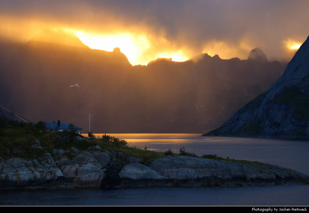 Sunset, Toppøya, Lofoten, Norway