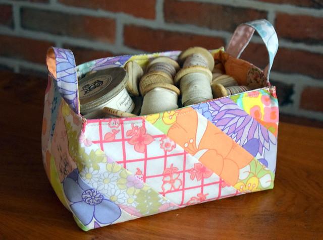 Vintage Sheets Basket