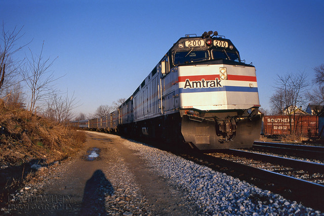 Westbound Capitol Limited At Shenandoah Jct
