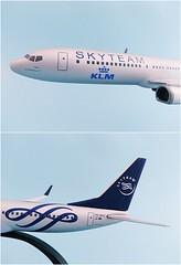 KLM - Royal Dutch Airlines - Skyteam Scale 1-200 model Boeing B737-900 #05 PH-BXO