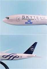 KLM - Royal Dutch Airlines - Skyteam Scale 1-200 model Boeing B777-300ER #02.05 PH-BVD