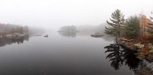 brunswick maine swingingbridge androscoggin river fog panorama topsham