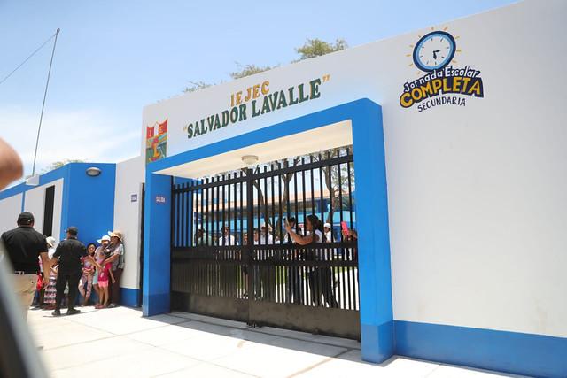 Inauguración I.E.  Salvador Lavalle Vichayal, Piura