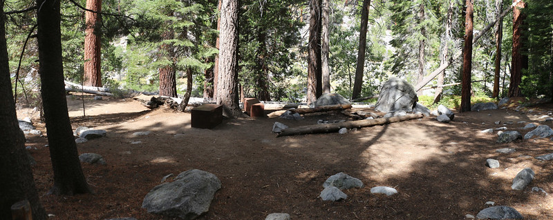 The campground just north of Kern Hot Springs in Kern Canyon on the High Sierra Trail
