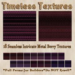 TT 18 Seamless Intricate Metal Berry Timeless Textures