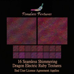 TT 16 Seamless Shimmering Dragon Electric Ruby Timeless Textures ++