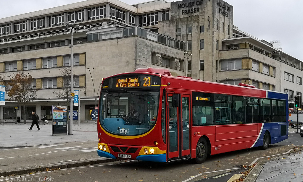 Plymouth Citybus 375 NK55OLM