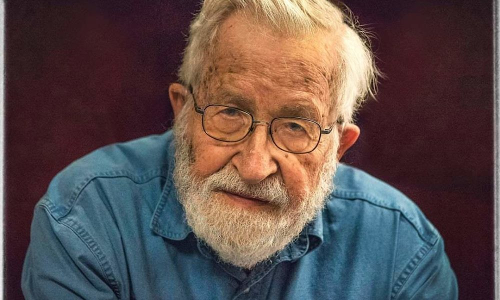 I picture of Noam Chomsky with a beard