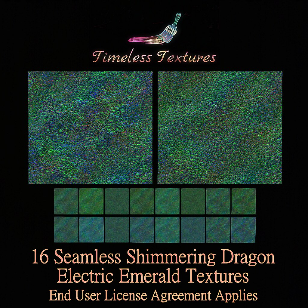 TT 16 Seamless Shimmering Dragon Electric Emerald Textures
