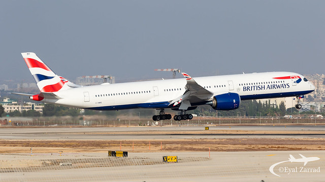 TLV - British Airways Airbus A350-1000 G-XWBE