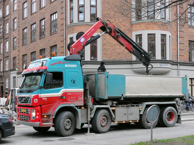 Colourful Volvo FM12 CL67867 at work