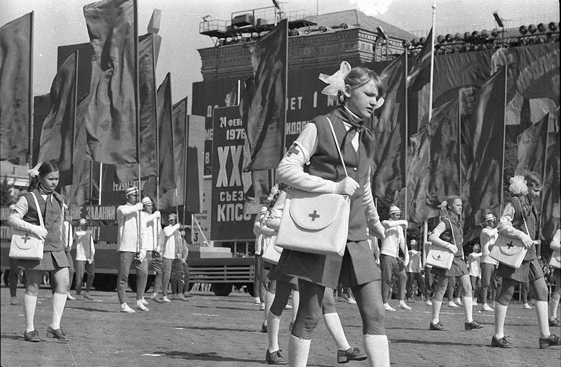 1974. Парад физкультурников. Красная площадь. 1 мая  (3)