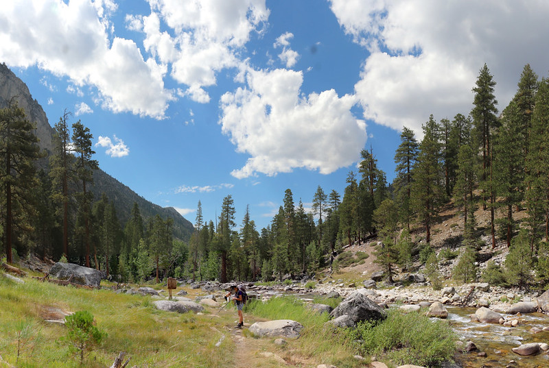 We arrive at Kern Hot Springs on the Kern River in Kern Canyon on the High Sierra Trail