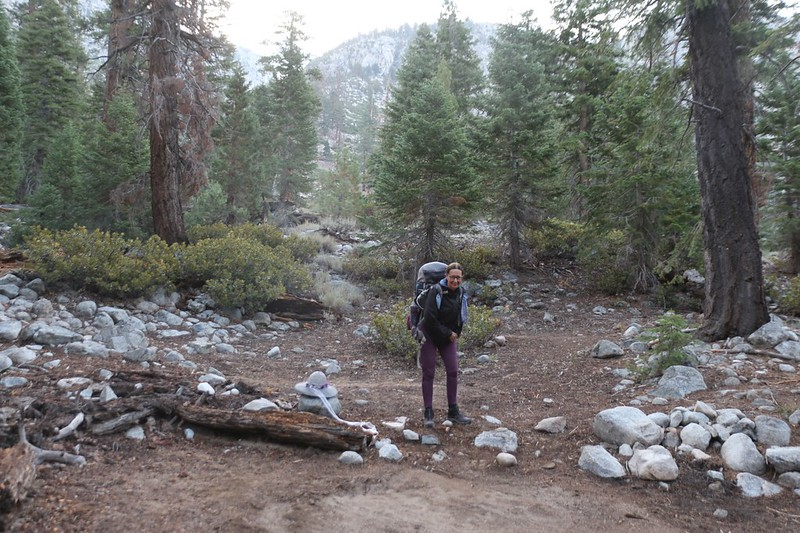 It was still cool and shady down in Kern Canyon as we began our long day's hike