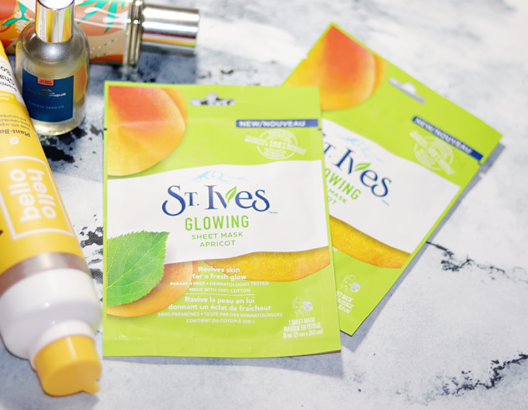st ives glowing apricot sheet mask