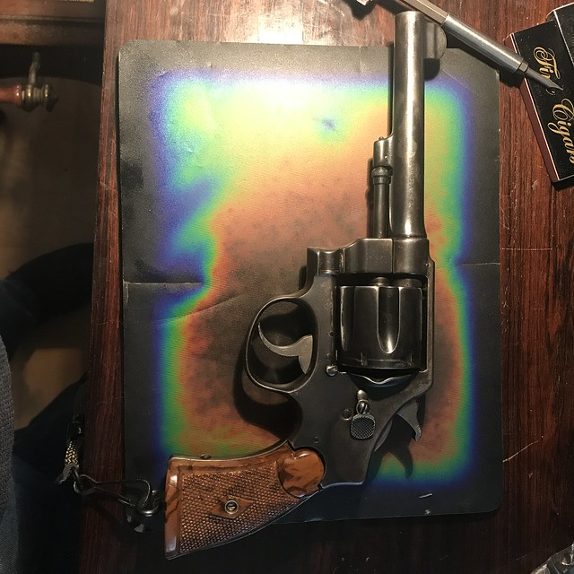 Restoring Original Grips on Bierkle Revolver