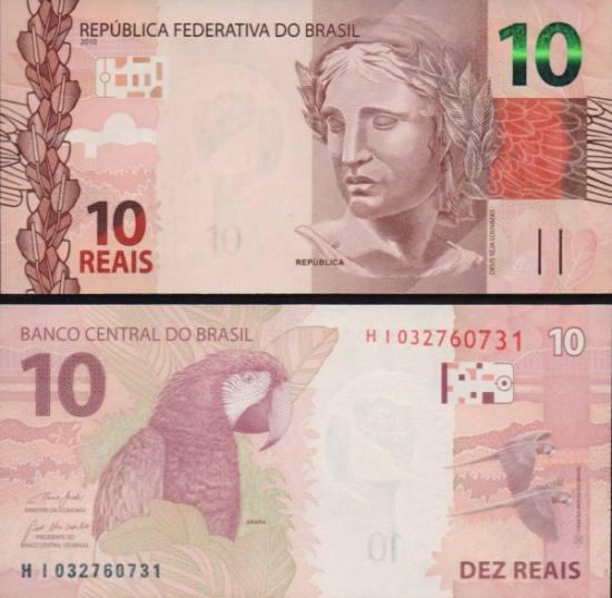 10 Brazilian Reais 2019