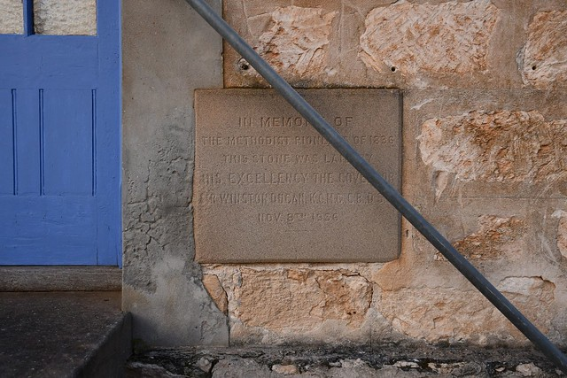 Kingscote Methodist Manse foundation stone laid 8 November 1936 in memory of Methodist Pioneers of 1836, Kangaroo Island South Australia
