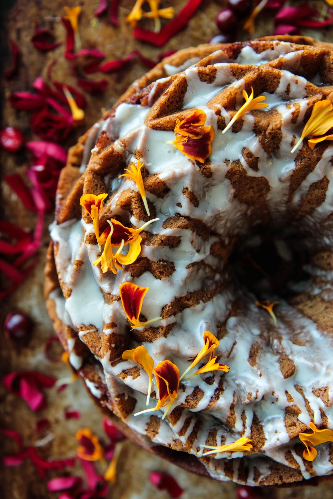 Pumpkin Pecan Coffee Cake (Vegan and Gluten-free)
