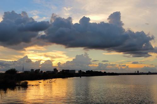 clouds cloud sunset sky river water japan chiba ichikawa edoriver tokyoskytree
