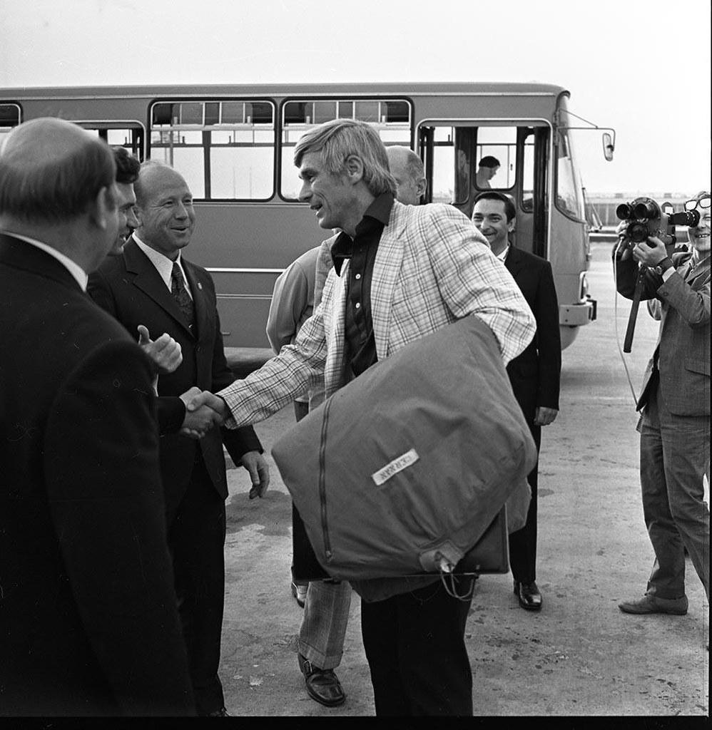 1973. Прибытие американского астронавта Юджина Сернана