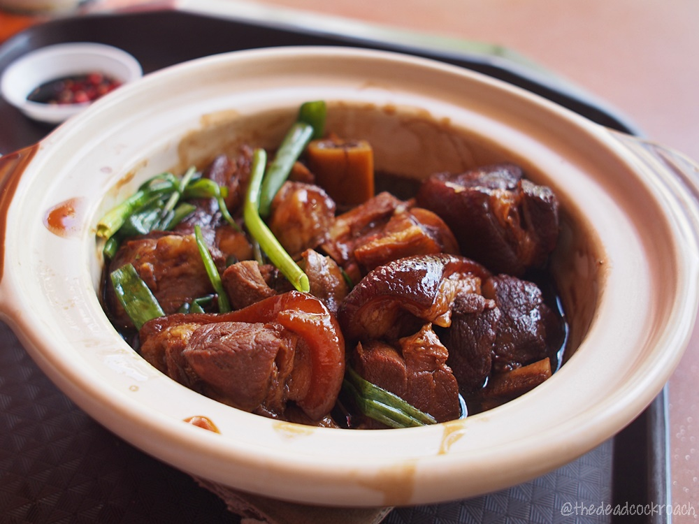 singapore,food review,food,review,braised pig trotters,claypot,taman jurong market & food centre