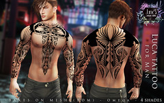 Luca tattoo for man