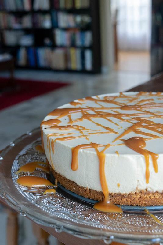 cheesecake au caramel (toffee chesecake)