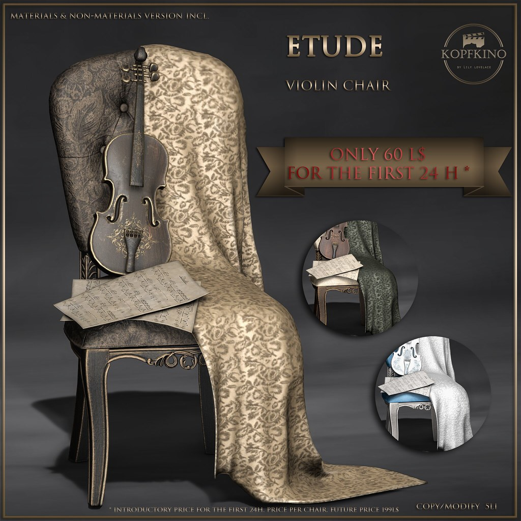 KOPFKINO – Etude Violin Chair NEW and special price!
