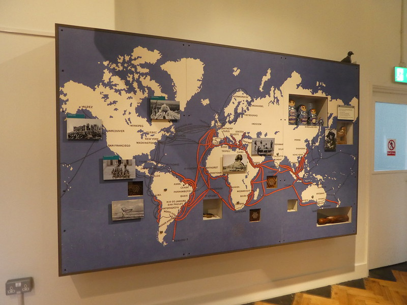 Map of undersea telegraph cables from PK Porthcurno