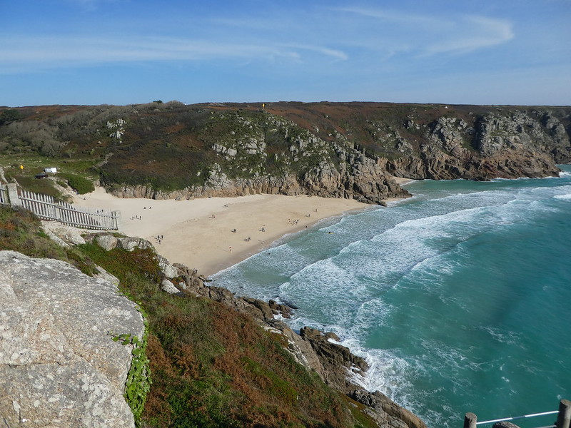 Porthcurno Beach viewed from the Minack Theatre