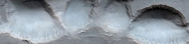 Mars - Chain of Pits near Ceraunius Fossae