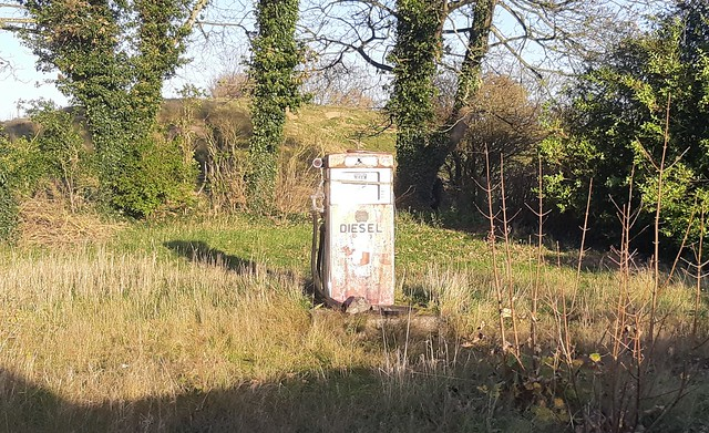 Abandoned Garage/petrol station- A1031, Saltfleet, Nr Louth, Lincolnshire.