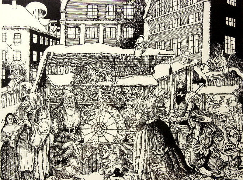 Hans Arnold - Christmas market in the Old Town,
