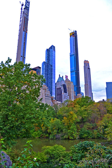 Billionaire's Row Skyscrapers & The Pond Central Park Manhattan New York City NY P00709 DSC_0259
