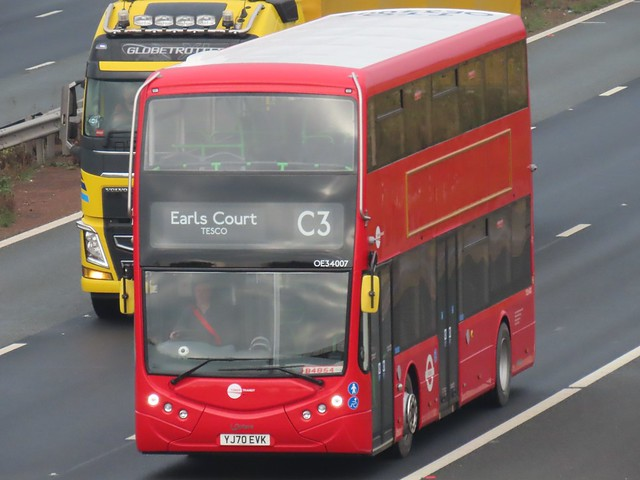 Tower Transit, Optare (YJ70EVK) On The A1M Southbound