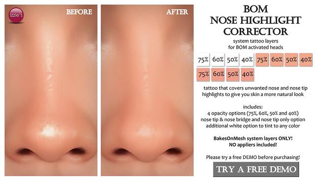 BOM Nose Highlight Corrector (for FLF)