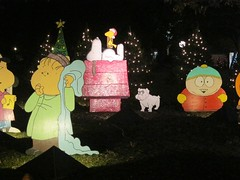 Cartoon Characters At The Austin Trail Of Lights