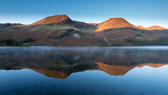 Buttermere morning mist
