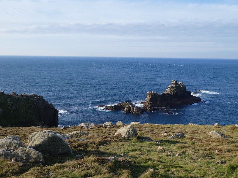 Rocky outcrops of the coast of Land's End