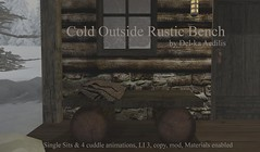 Cold Outside Rustic Bench