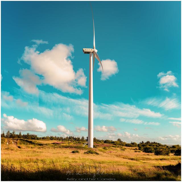 The wind turbine at Cathkin Braes, Glasgow