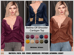 Hilly Haalan - Bettina Off Shoulder Cardigan Top