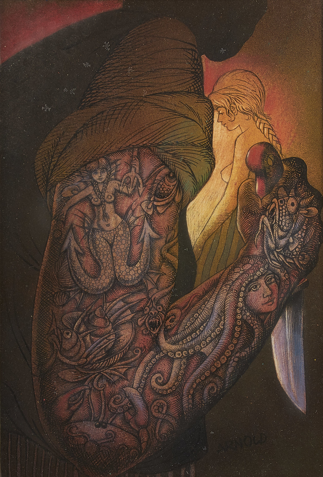 Hans Arnold - Tattoos