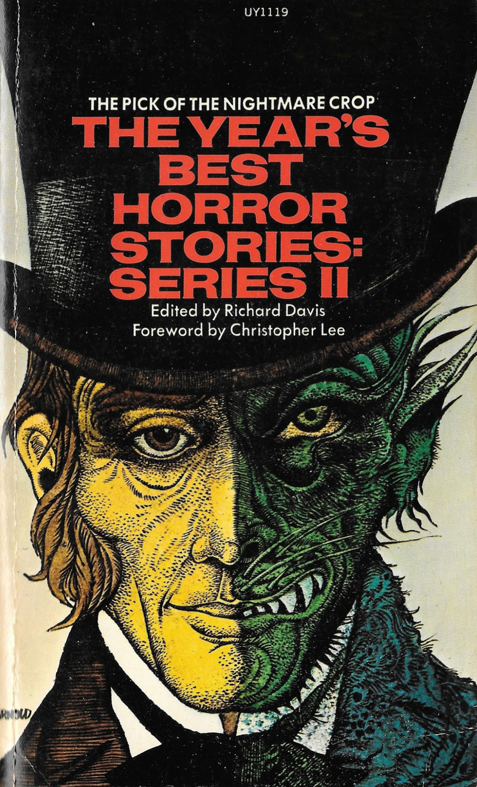 """Hans Arnold - Cover for """"The Year's Best Horror Stories, Series 2"""" 1972"""