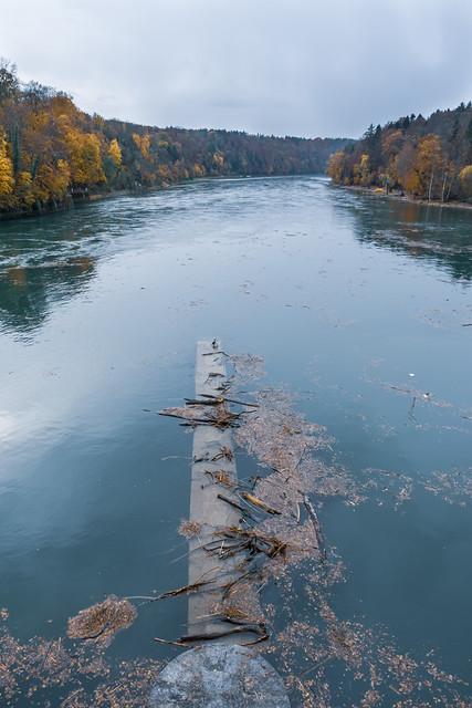 CH ZH Laufwasserkraftwerk Eglisau-Glattfelden am Rhein