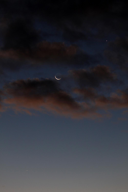 Moon, Venus, Mercury and Spica