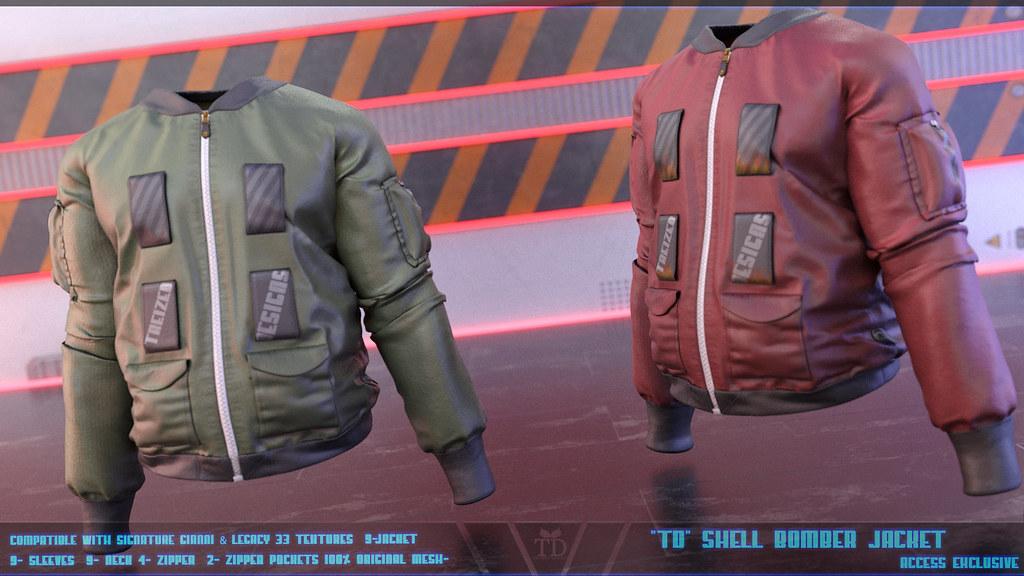 """""""TD"""" Shell Bomber Jacket @ACCESS"""