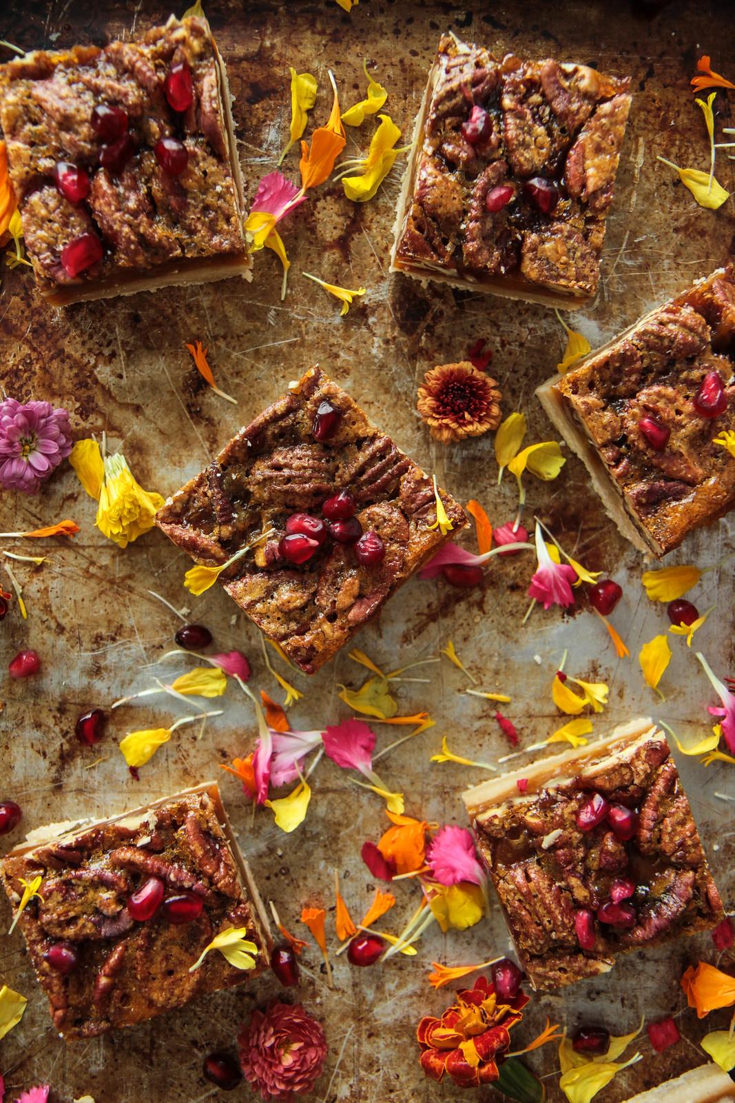 Maple Pecan Pie Bars (Vegan and Gluten-free) from HeatherChristo.com